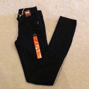 Black Medium Rise Skinny Jeans